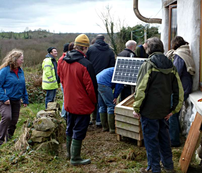 Solar panel Workshop at seed savers Co Clare
